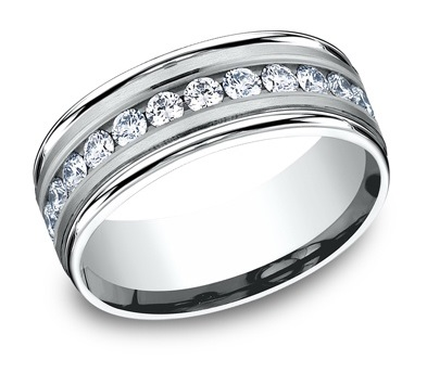 Wedding Band 001 115 00133 Gents Diamond Rings From Bay Area Company Green Wi