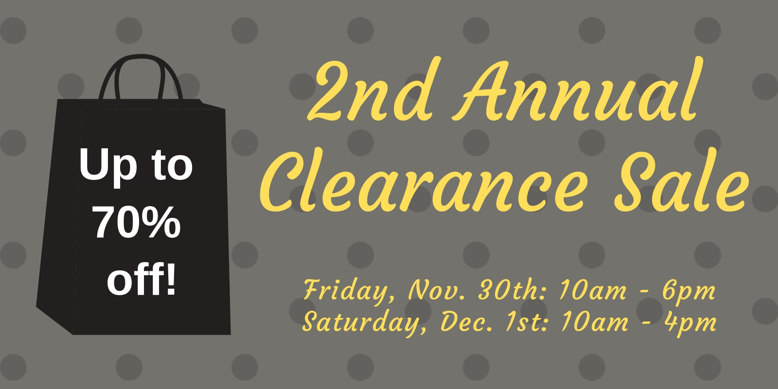 2nd Annual Clearance Sale